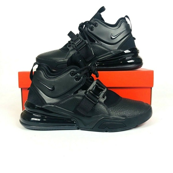 best sneakers 38e86 ad142 Nike Air Force 270 Triple Black NWT
